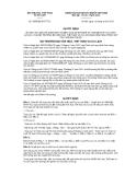 Quyết định số  3088/QĐ-BVHTTDL