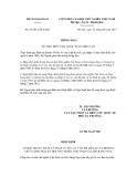 Thông báo số 43/2012/TB-LPQT