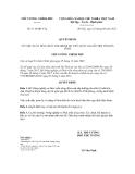 Quyết định số 1116/QĐ-TTg