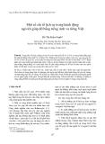 """Báo cáo """" Một số chỉ tố lịch sự trong hành động ngỏ lời giúp đỡ bằng tiếng Anh và tiếng Việt """""""