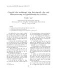 """Báo cáo """"  Công tác kiểm tra đánh giá nhận thức của sinh viên - một khâu quan trọng trong quá trình dạy học ở đại học """""""