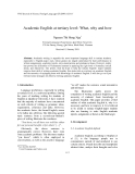 "Báo cáo ""Academic English at tertiary level: What, why and how """