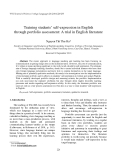 """Báo cáo """"  Training students' self-expression in English through portfolio assessment: A trial in English literature """""""