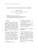 """Báo cáo """" Idiomatic variants and synonymous idioms in English """""""
