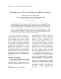"Báo cáo "" Changing for the better: Challenges and Opportunities"""