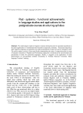 """Báo cáo """"  Post - systemic - functional achievements in language studies and applications to the postgraduate courses structuring syllabus """""""