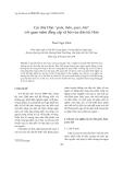 """Báo cáo """" Các chữ Hán """"quân, thần, quan, dân"""" với quan niệm đẳng cấp xã hội của dân tộc Hán """""""