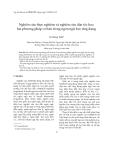 """Báo cáo """" Nghiên cứu thực nghiệm và nghiên cứu dân tộc học: hai phương pháp cơ bản trong ngôn ngữ học ứng dụng """""""