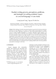 """Báo cáo """"  Student writing process, perceptions, problems, and strategies in writing academic essays in a second language: A case study """""""