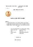 Đề Tài:  Giải pháp nâng cao chất lượng tín dụng ngắn hạn tại ngân hàng Nông nghiệp và phát triển nông thôn Việt Nam _ Chi nhánh Hoàng Mai