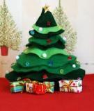 Cắt dán cây thông Noel nhỏ xinh trang trí nhà mình