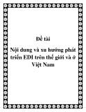 Đề tài Nội dung và xu hướng phát triển EDI trên thế giới và ở Việt Nam