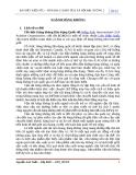 BÀI ĐIỀU KIỆN SỐ 2 – MÔN ĐỊA LÍ KINH TẾ & XÃ HỘI ĐẠI CƯƠNG 2