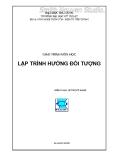 Giáo trình môn học Lập trình hướng đối tượng - Lê Thị Mỹ Hạnh (Biên soạn)