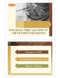 Thuyết trình: Ứng dụng thương mại điện tử tại công ty TNT