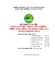 Đề tài: Đánh giá hiện trạng môi trường nước sông Đồng Nai đoạn chảy qua TP. Biên Hòa