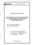 Đề tài: Tính toán thiết kế trạm xử lý nước thải mía đường công ty TNHH MK Sugar Việt Nam, thị trấn Ma Lâm, huyện Hàm Thuận Bắc, tỉnh Bình Thuận công suất 250m3/ngày đêm