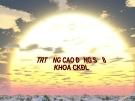 BÀI 6: MẶT CẮT VÀ HÌNH CẮT