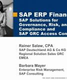 Sap Solutions For Governance Risk And Compliance And Grc Access Control 3