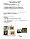 Unit 10.  Nature in danger - Lesson one: A - Reading