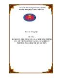 Đề tài: ĐÁNH GIÁ TÁC ĐỘNG CỦA CÁC CHƯƠNG TRÌNH 134 -135 TRONG CÔNG TÁC GIẢM NGHÈO Ở PHƯỜNG PHÁO ĐÀI THỊ XÃ HÀ TIÊN