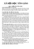 Bài giảng môn xã hội học tôn giáo