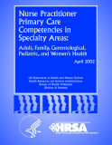 Nurse Practitioner Primary Care Competencies in Specialty Areas: Adult, Family, Gerontological, Pediatric, and Women's Health