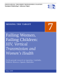 Failing Women,  Failing Children:  HIV, Vertical  Transmission and  Women's Health