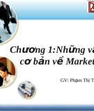Chương 1:Những vấn đề cơ bản về Marketing