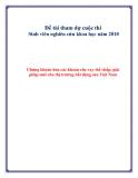 Đề tài tham dự cuộc thi Sinh viên nghiên cứu khoa học năm 2010: Chứng khoán hóa các khoản cho vay thế chấp, giải pháp mới cho thị trường bất động sản Việt Nam