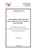 Đề tài: Quan hệ tác động giữa tý giá USD /VND và kim ngạch xuất khẩu dầu thô của Việt Nam giai đoạn 1990-2005