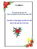 Đề tài:Tìm hiểu về hoạt động rửa tiền trên thế giới và đề xuất cho Việt Nam