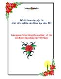 Đề tài :Groupon (Mua hàng theo nhóm) và các mô hình ứng dụng tại Việt Nam