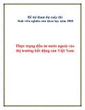 Đề tài tham dự cuộc thi Sinh viên nghiên cứu khoa học năm 2008: Thực trạng đầu tư nước ngoài vào thị trường bất động sản Việt Nam