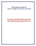 Đề tài :Ứng dụng mô hình Markowizt trên thị trường chứng khoán Việt Nam