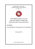Đề tài: Tỷ giá hối đoái và hoạt động xuất, nhập khẩu