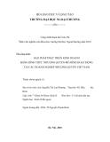 ĐỀ TÀI: GIẢI PHÁP PHÁT TRIỂN KINH DOANH BẰNG HÌNH THỨC NHƯỢNG QUYỀN MÔ HÌNH HOẠT ĐỘNG TẠI CÁC DOANH NGHIỆP NHƯỢNG QUYỀN VIỆT NAM
