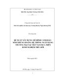 Đề tài: Đề xuất xây dựng mô hình cảnh báo sớm khủng hoảng hệ thống ngân hàng thương mại tại Việt Nam dựa trên kinh nghiệm thế giới