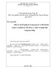 Đề tài:Một số vấn đề pháp lý trong quản lý và điều hành công ty cổ phần tại Việt Nam, so sánh với pháp luật Cộng hòa Pháp