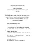 ĐỀ TÀI:GIẢI PHÁP NHẰM NÂNG CAO NĂNG LỰC XUẤT KHẨU CỦA CÁC DOANH NGHIỆP THÀNH PHỐ HỒ CHÍ MINH XUẤT KHẨU HÀNG NÔNG LÂM THỦY SẢN SANG THỊ TRƯỜNG NHẬT BẢN