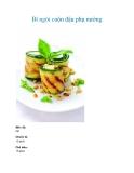 Bí ngòi cuộn đậu phụ nướng