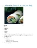 Món ăn lạ - Bánh bột mì cuộn dưa chuột