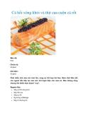Cá hồi xông khói và thịt cua cuộn cà rốt