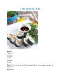 Cơm sushi lá tía tô