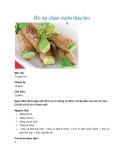 Bò áp chảo cuộn dưa leo
