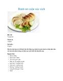 Bánh mì cuộn xúc xích