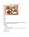 Lươn cuộn thịt bằm