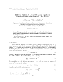 "Báo cáo ""Stability Radius of Linear Dynamic Equations with Constant Coefficients on Time Scales """