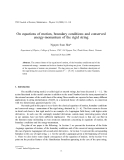 "Báo cáo "" On equations of motion, boundary conditions and conserved energy-momentum of the rigid string """