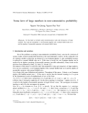 "Báo cáo ""Some laws of large numbers in non-commutative probability """